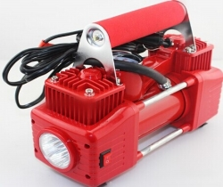 Double cylinders car Air Compressor with Led light